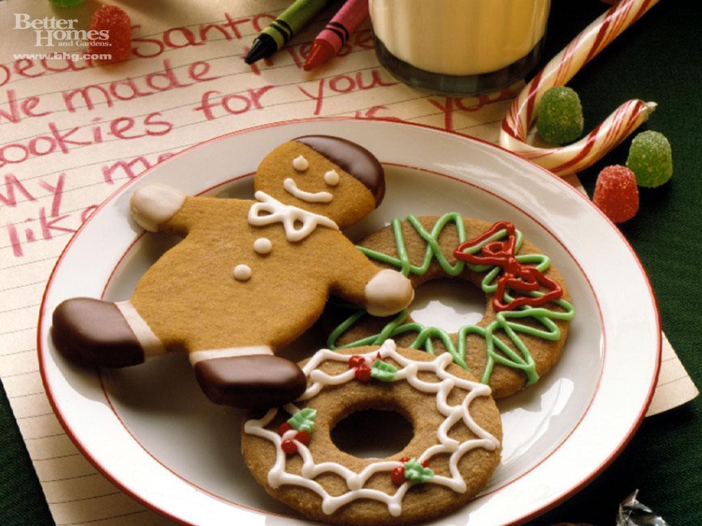 christmas desktop wallpaper Christmas Cookies 1024x768