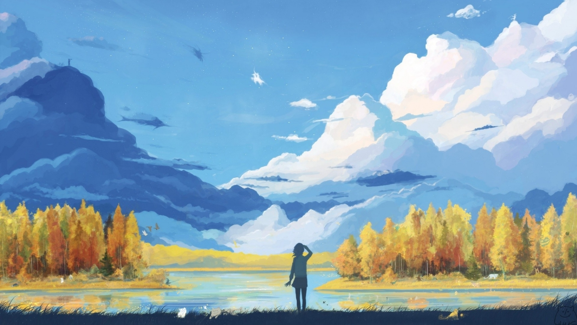 Anime Landscape Wallpaper HD 1920x1080