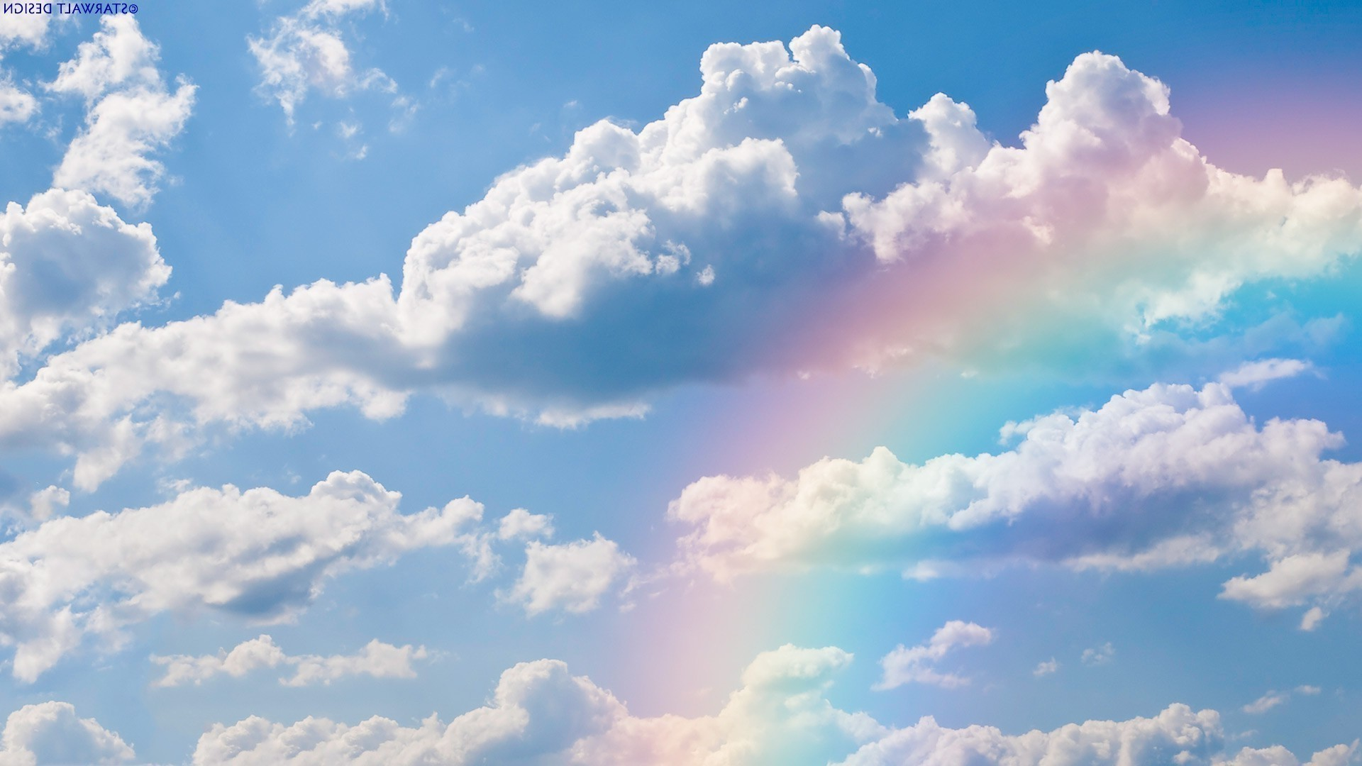 Rainbow in the clouds wallpaper 15621 1920x1080