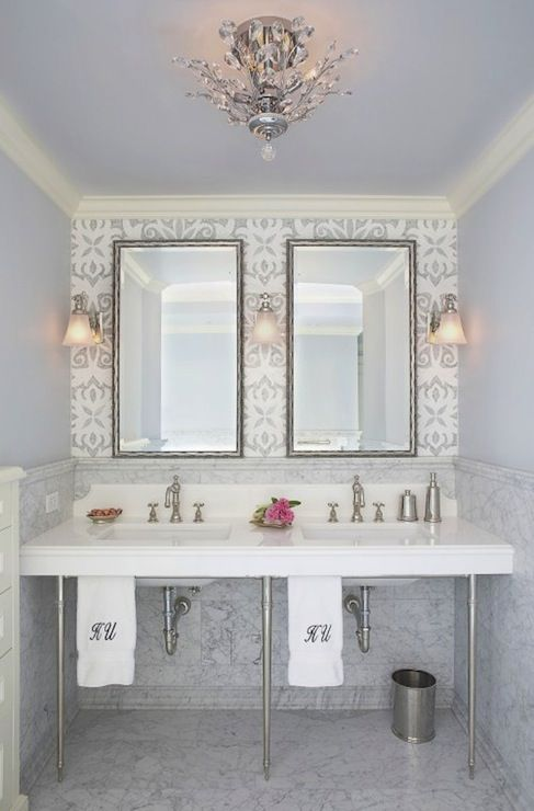 Free Download Wallpaper Accent Wall Bathrooms Pinterest 487x740 For Your Desktop Mobile Tablet Explore 48 Wallpaper For Bathrooms Walls Vinyl Wallpaper For Bathrooms Wallpaper Borders Home Depot Wallpaper In Stock