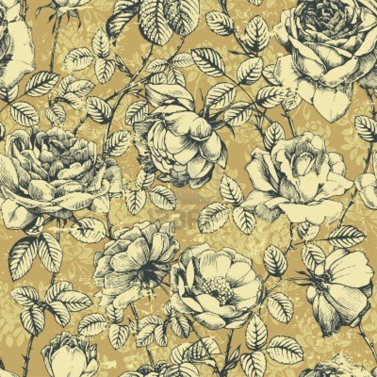 Vintage Floral Nail Art 1200x1200