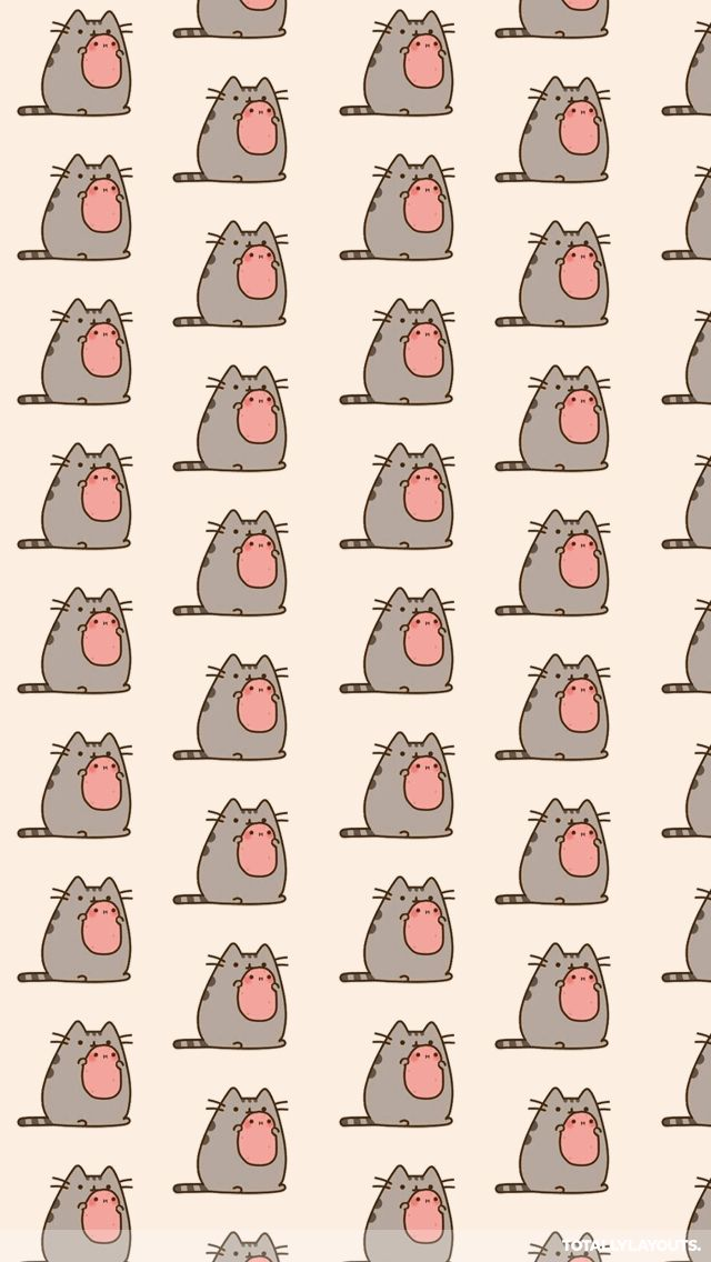 Pusheen the Cat Wallpaper iPhone Wallpapers Pinterest 640x1136