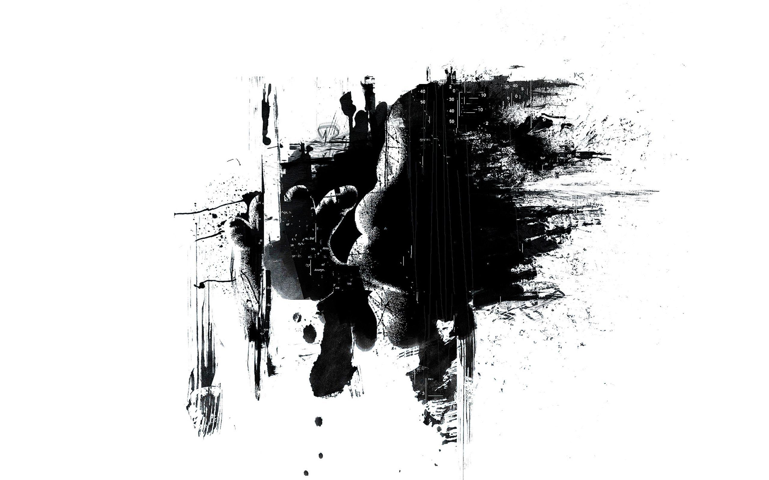 Black And White Splash Wallpapers 2560x1600