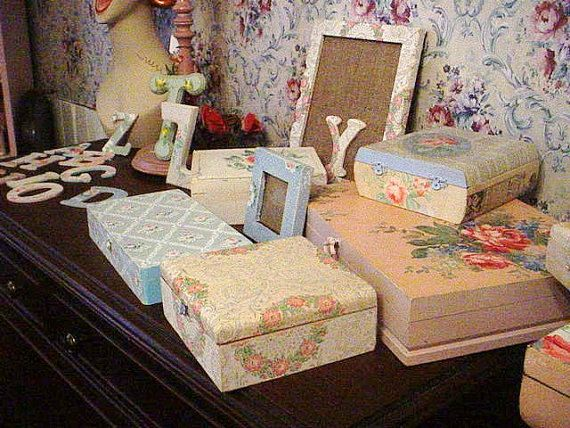 Vintage Wallpaper Cigar Box Nursery Recycled by SimplyCottageChic 24 570x428