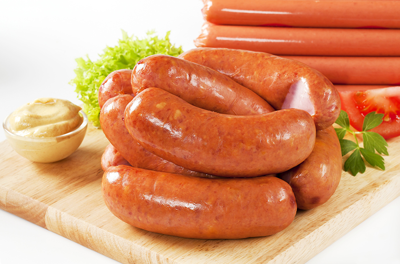 Wallpapers Vienna sausage Food Meat products 1280x846
