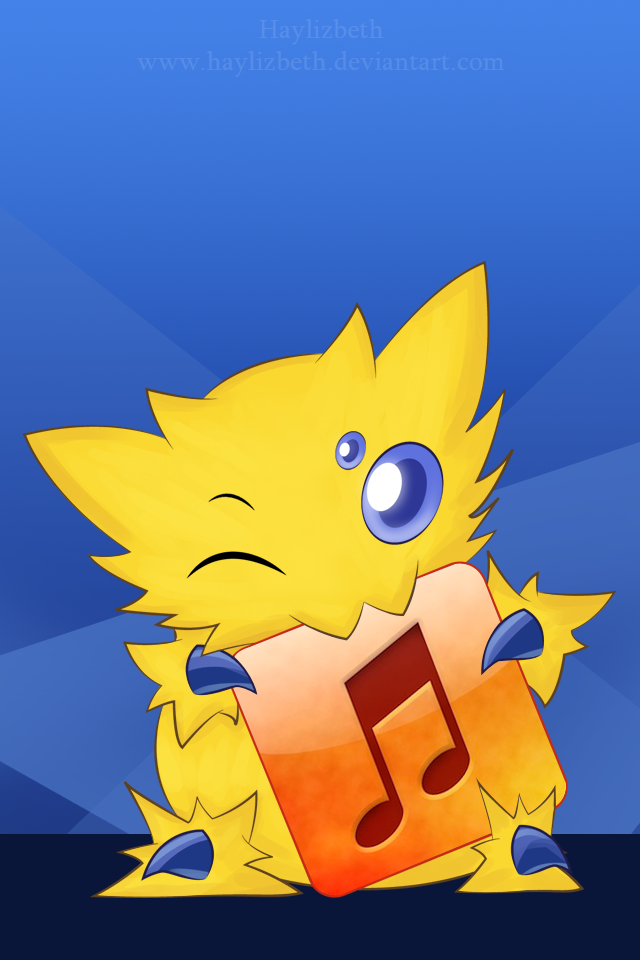 Pokemon Phone Wallpaper Joltik by Haylizbeth 640x960