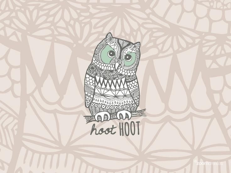 Hoot Owl Wallpaper - WallpaperSafari  Hoot Owl Wallpa...