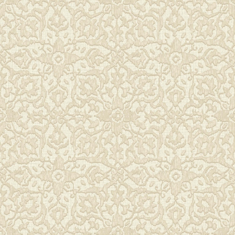 Grandeco Boho Chic Metallic Ikat Flower On Light Grey Wallpaper 10m 1500x1500
