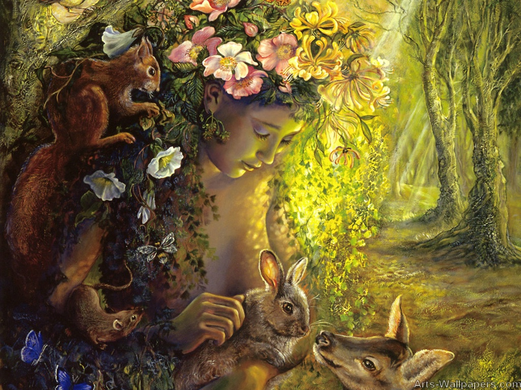 Josephine Wall Paintings Art Print Wallpapers Art Painting 1024x768