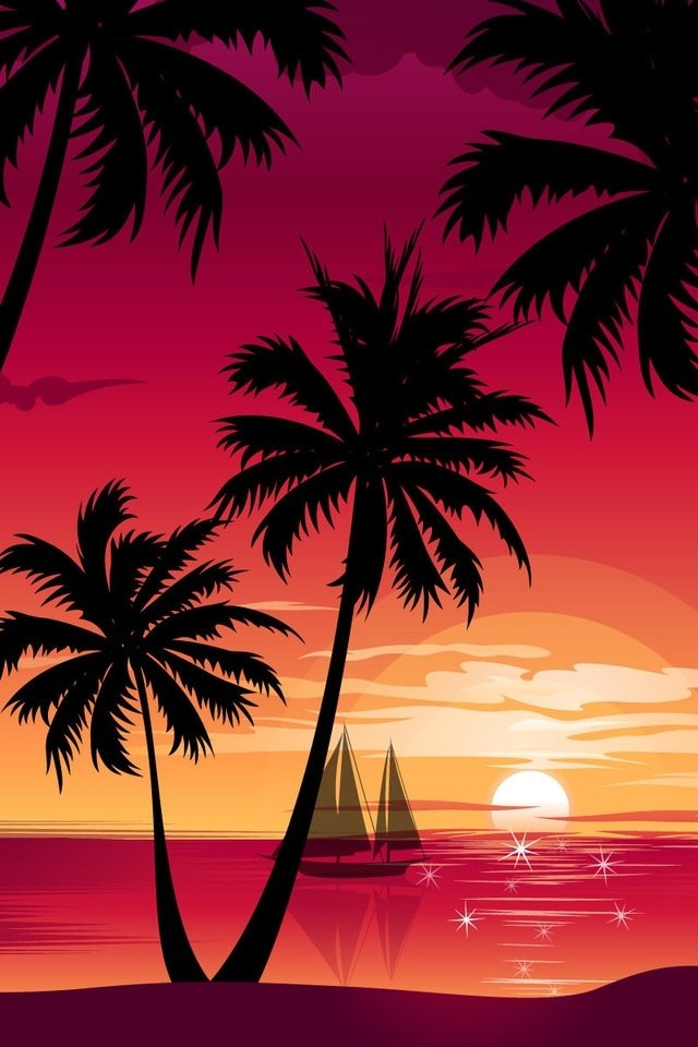73 palm trees wallpaper on wallpapersafari - Palm tree wallpaper for android ...