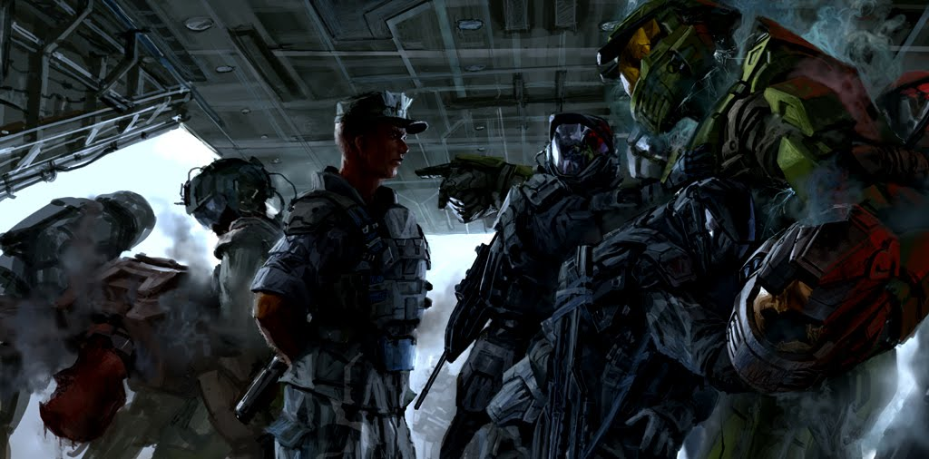 Halo New Wallpaper Art Poster   HD Zeromin0 1024x506