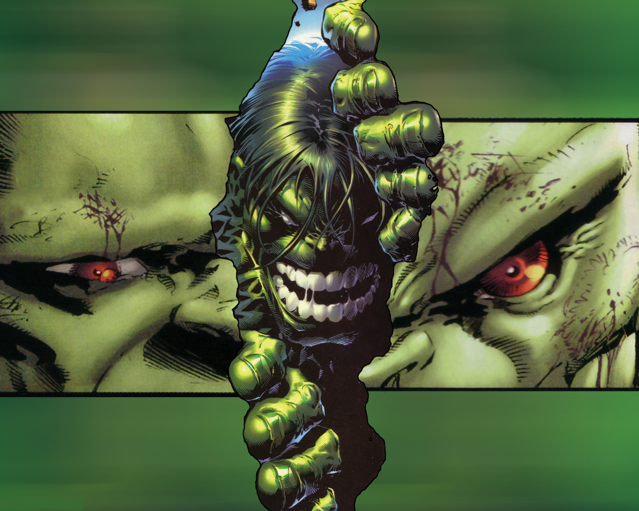 groene hulk wallpaper strip figuur van de hulk wallpaper hulk 1280x1024