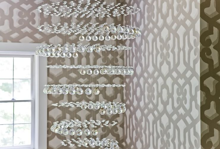 Trellis Wallpaper   Contemporary   entrancefoyer   JD Interiors 740x501