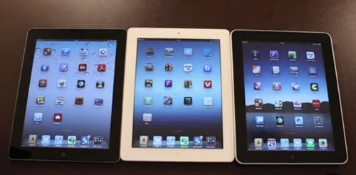 New iPad vs iPad 2 vs first gen iPad comparison video Daily 500x246