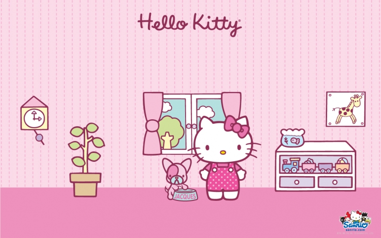 Gambar Wallpaper Kamar Hello Kitty  Warna Pink Dp Wallpaper X
