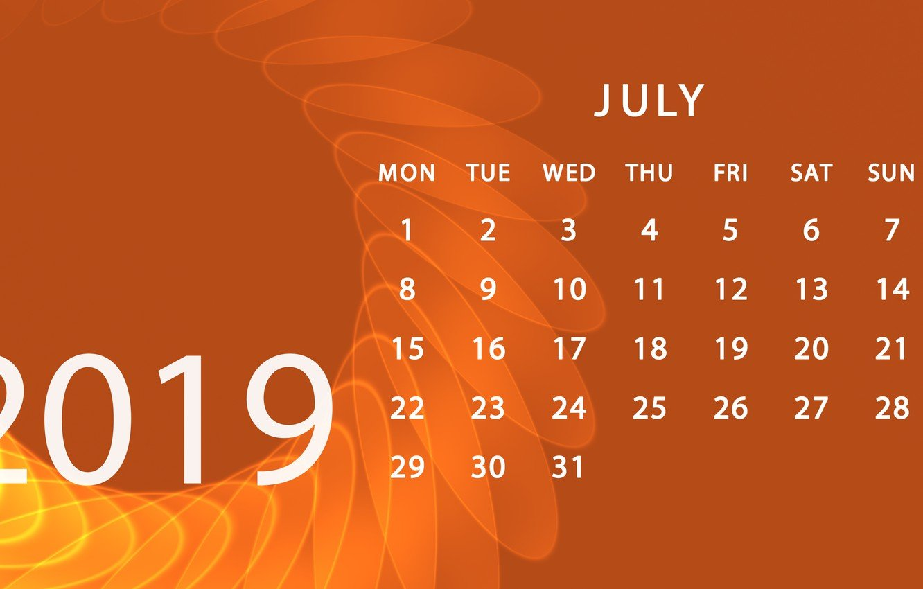 Wallpaper calendar July 2019 images for desktop section 1332x850