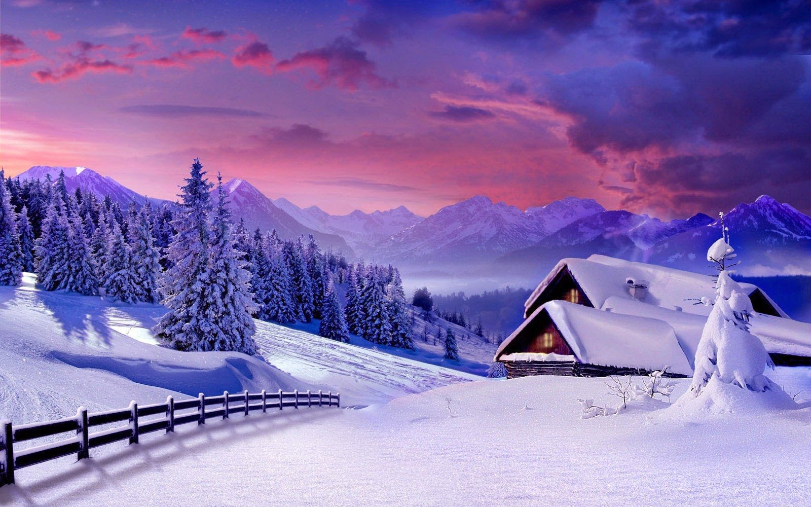 Winter Scenery Wallpapers Beautiful Winter Scenery Desktop Wallpapers 1600x1000