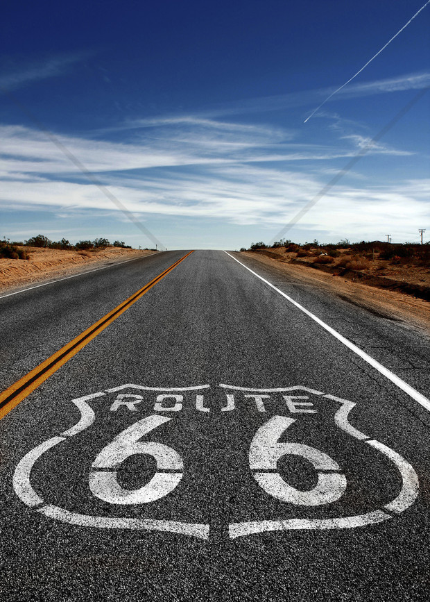 Route 66 On the Road Again   Wall Mural Photo Wallpaper   Photowall 620x867