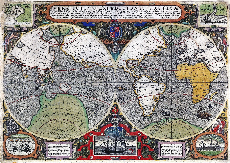 Old World Map Murals Wallpaper