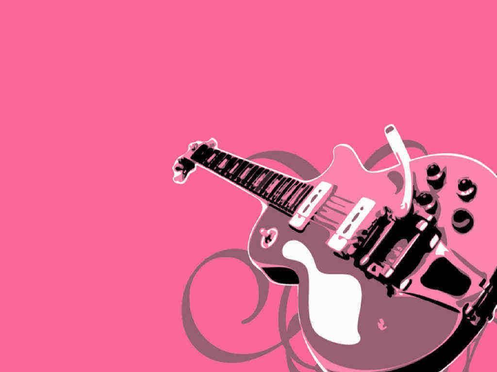 Pink Music Wallpaper: Guitar Girls Wallpaper