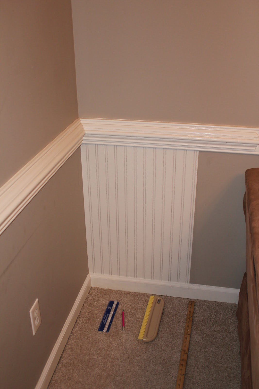 Image Of Brown Beadboard Gallant Oak Interior Wall Paneling