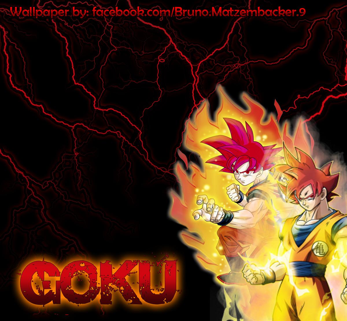 Wallpaper Goku Super Saiyan God ByLewildgoku by lewildgoku 1200x1111