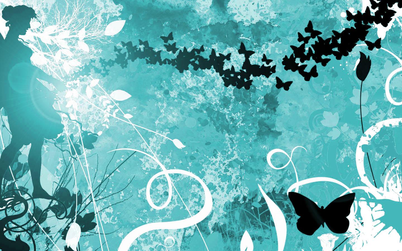turquoise vlinder wallpaper   ForWallpapercom 1440x900