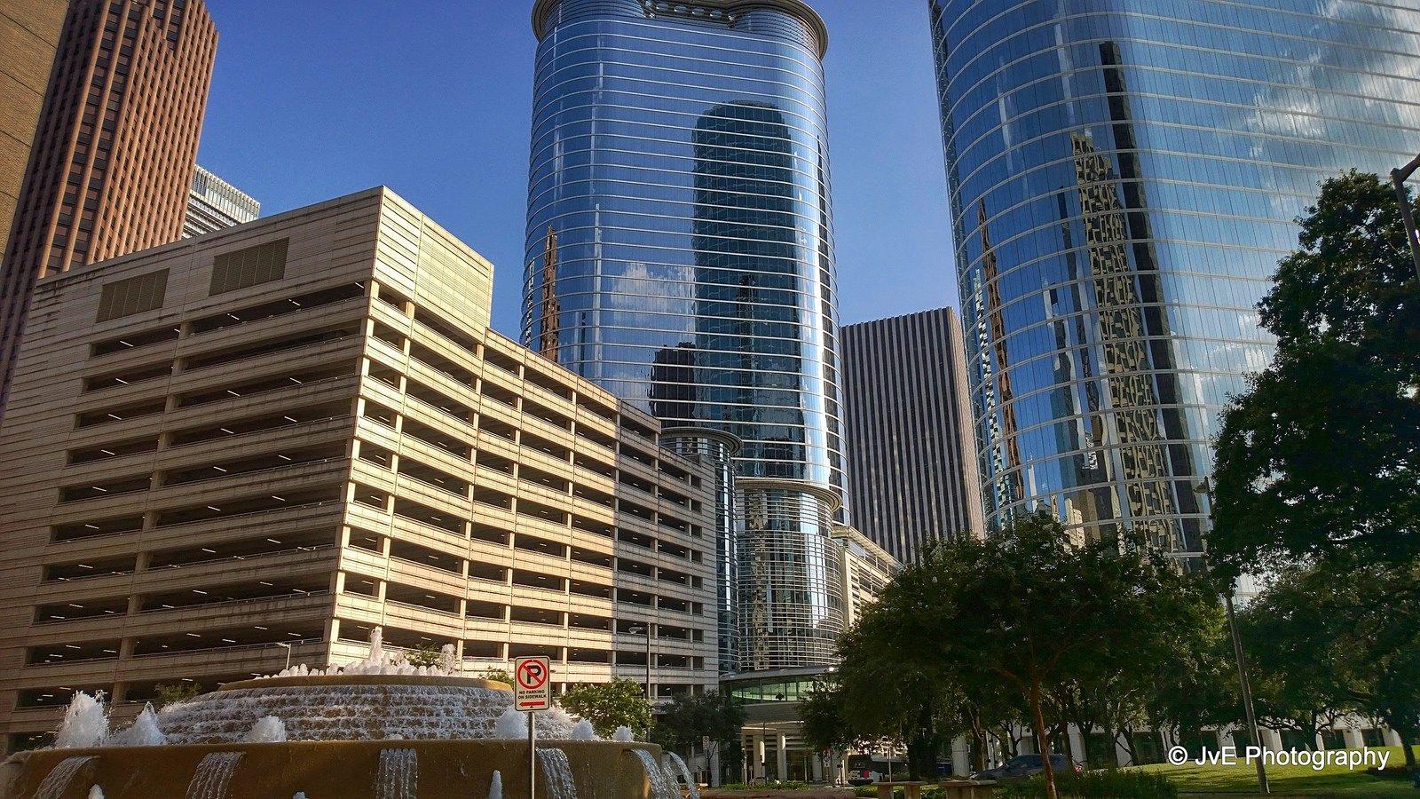 Houston architecture bridges cities City texas Night towers buildings 1600x900