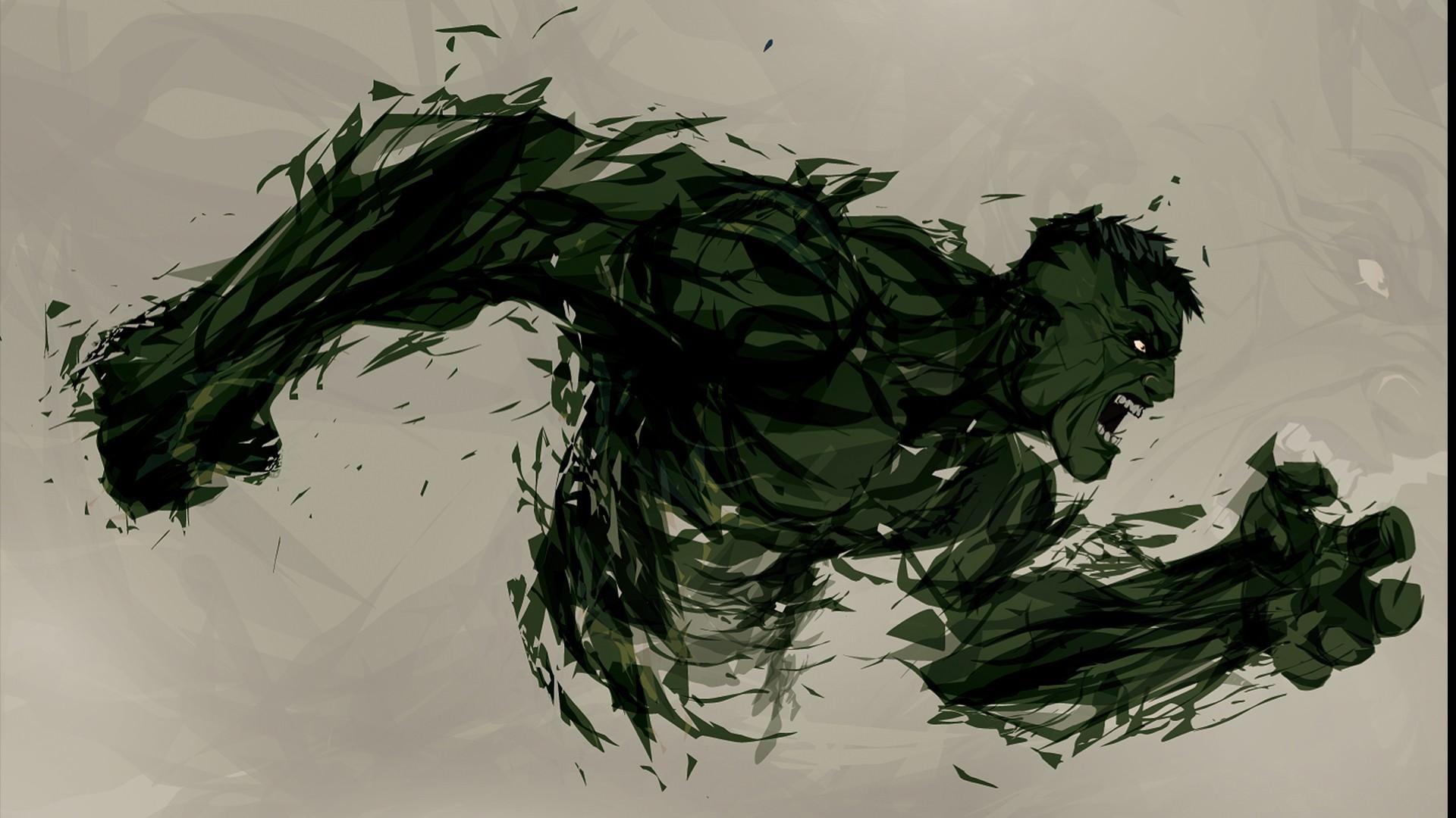 The Hulk Illustrated Alternative Art Wallpaper DigitalArtio 1920x1080