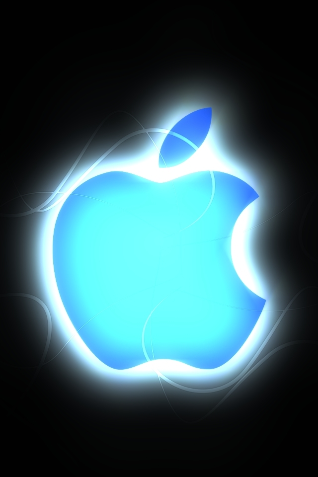 Iphone Iphone4 Apple Logo Background Picture   high quality 640x960