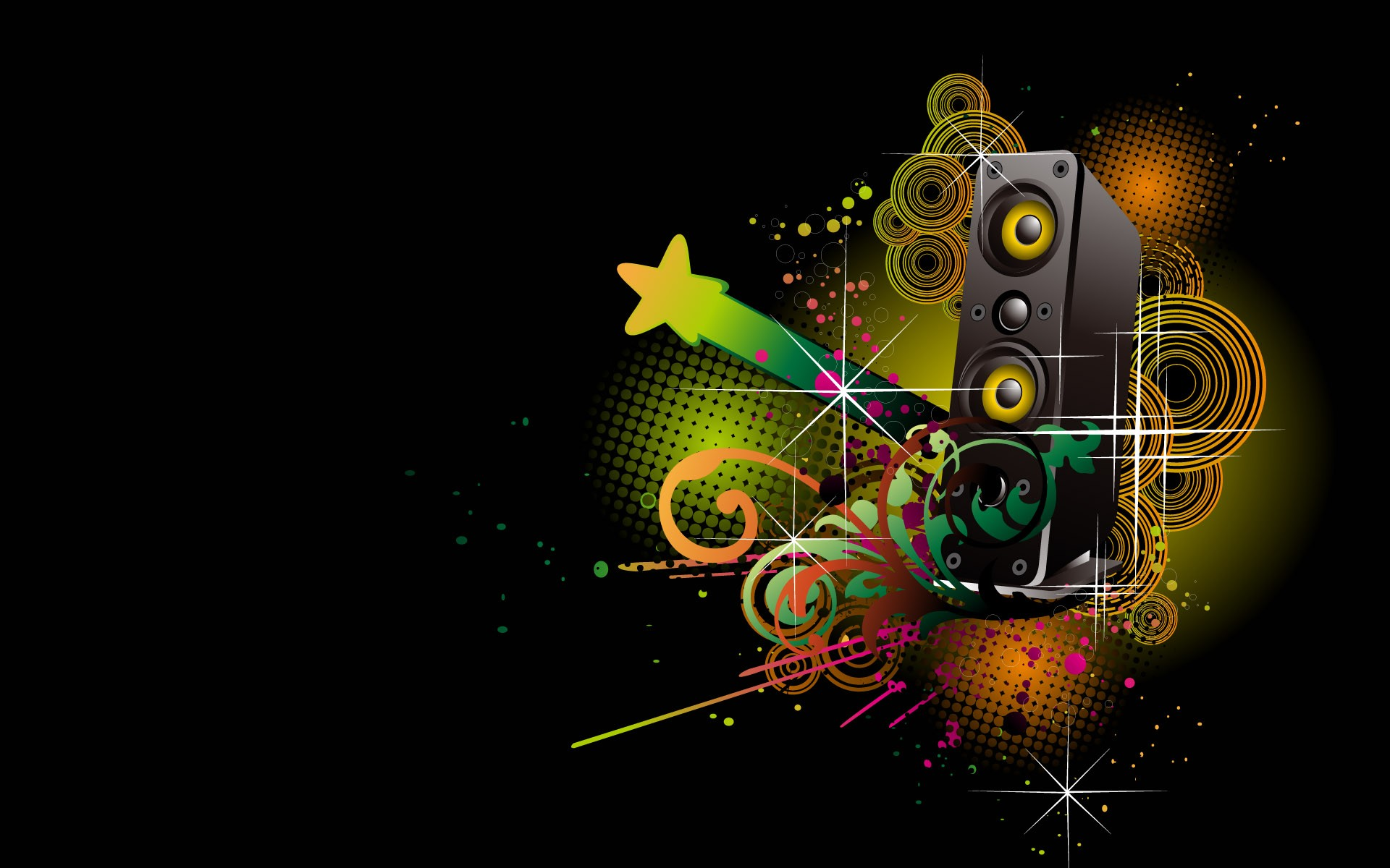 Dark Abstract Music   wallpaper 1920x1200