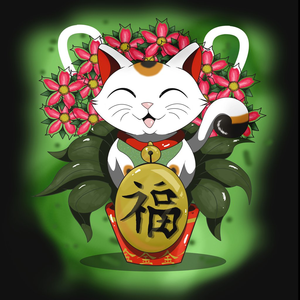 Maneki Neko Wallpaper
