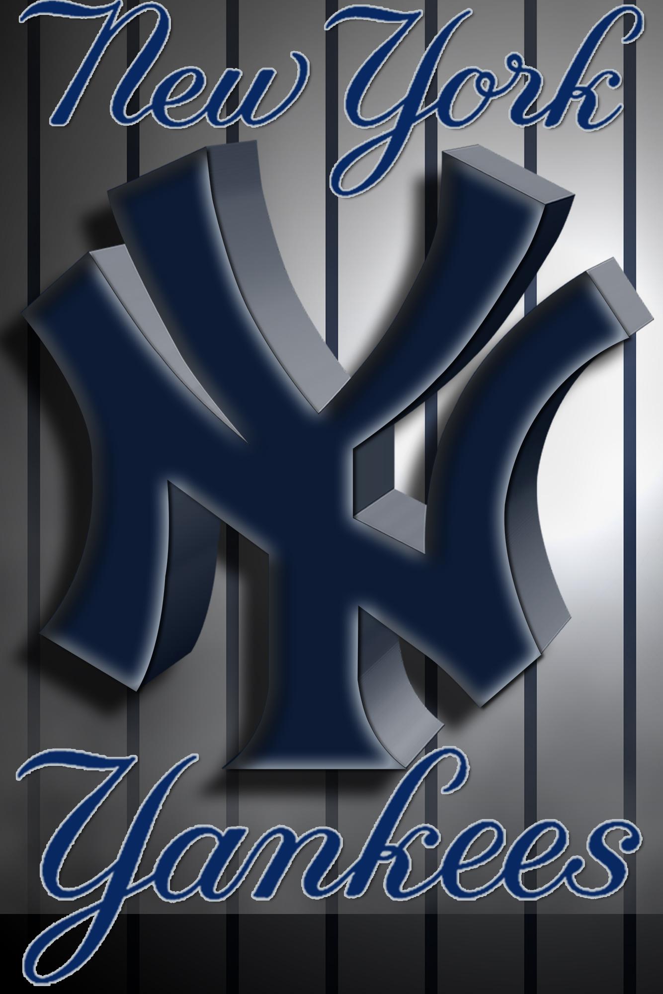 New York Yankees 3D Logo Wallpaper Download Wallpaper 1334x2000