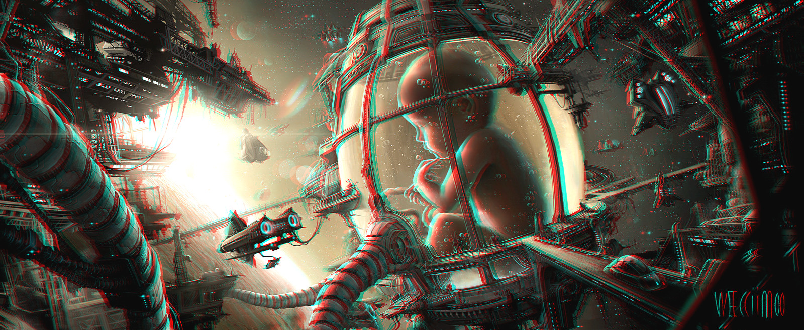 Anaglyph 3D Inspiration by Mark Ramsey Abduzeedo Design Inspiration 1600x657