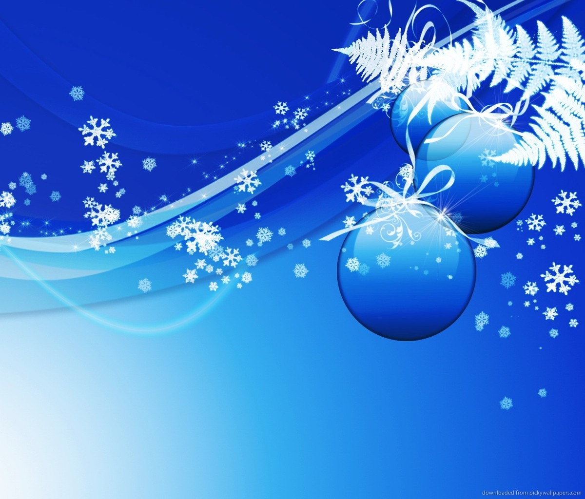 Blue Design Christmas Background Wallpaper For Samsung Galaxy Tab 1200x1024
