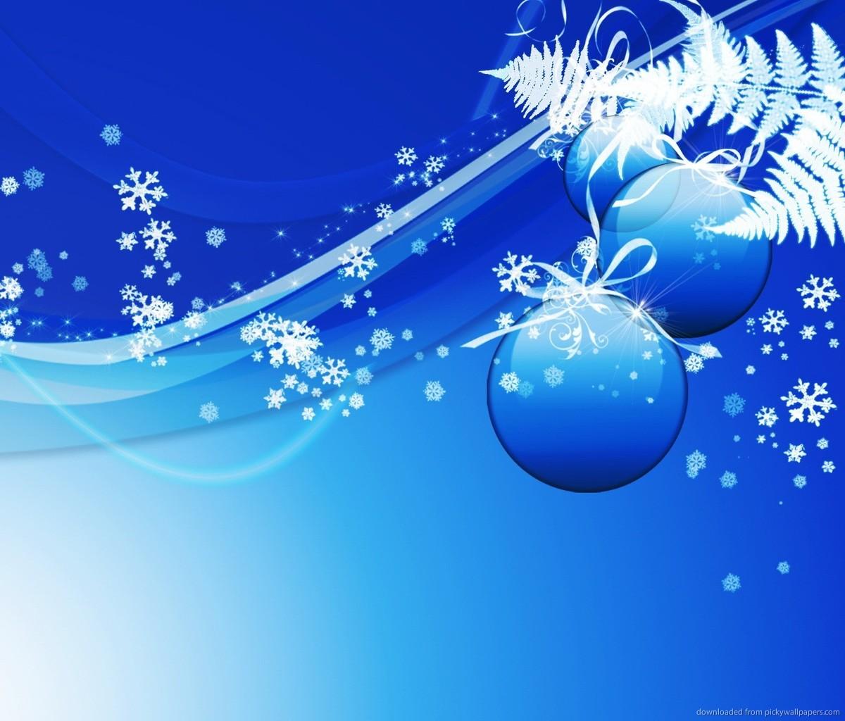 Blue Design Christmas Background Wallpaper For Samsung Galaxy Tab 1200x1024
