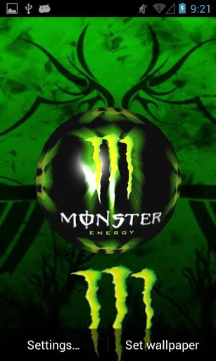 Monster wallpaper for phone wallpapersafari view bigger monster energy 3d lwp for android screenshot 307x512 voltagebd Images