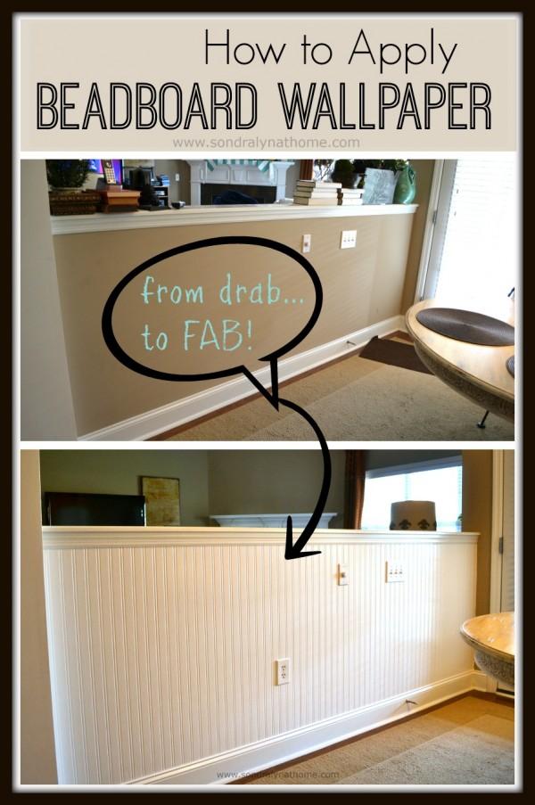How to Apply Beadboard Wallpaper   Sondra Lyn at Home 600x903