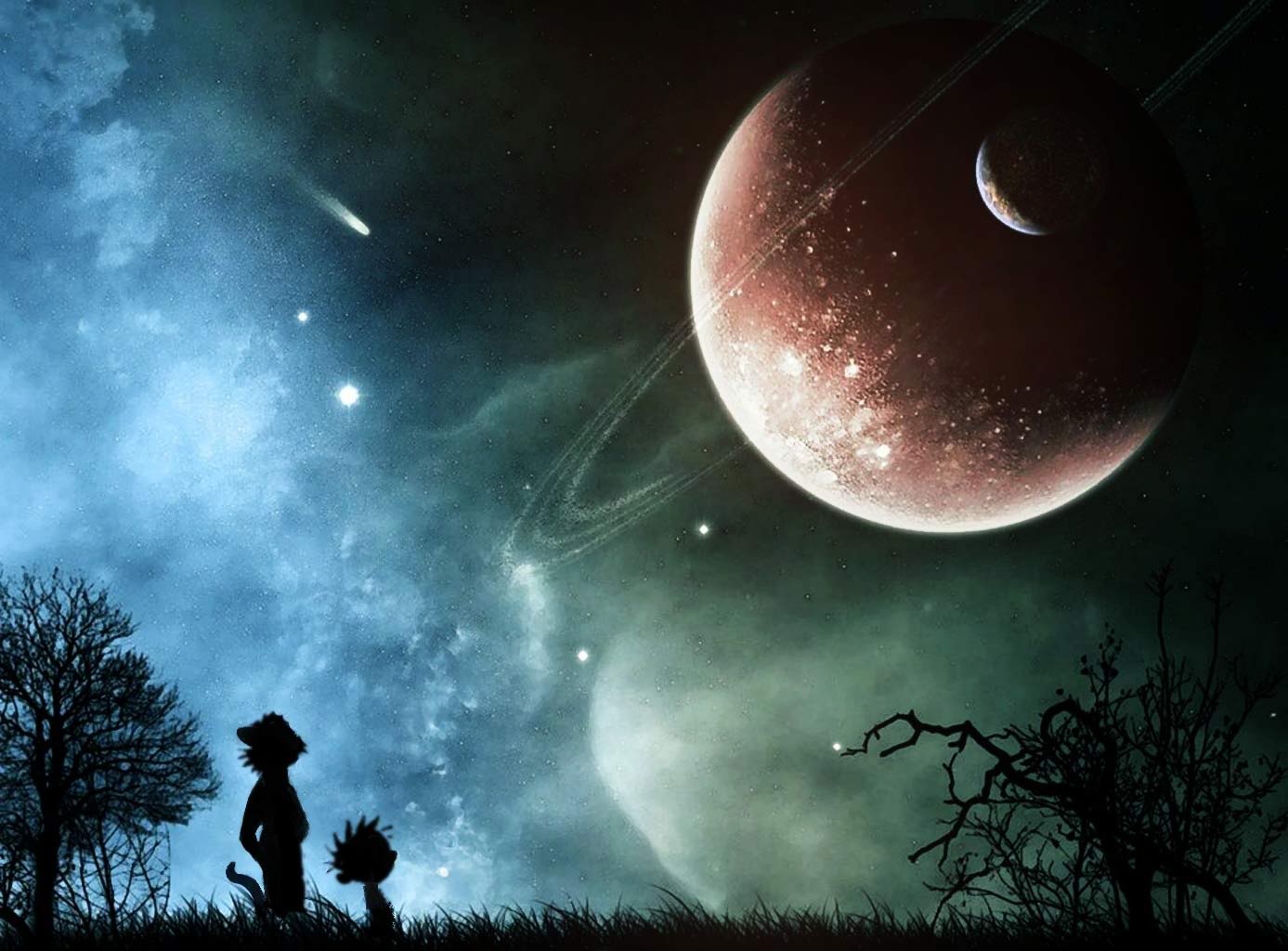 Free Download Planets Calvin And Hobbes Artwork Desktop 1387x1024