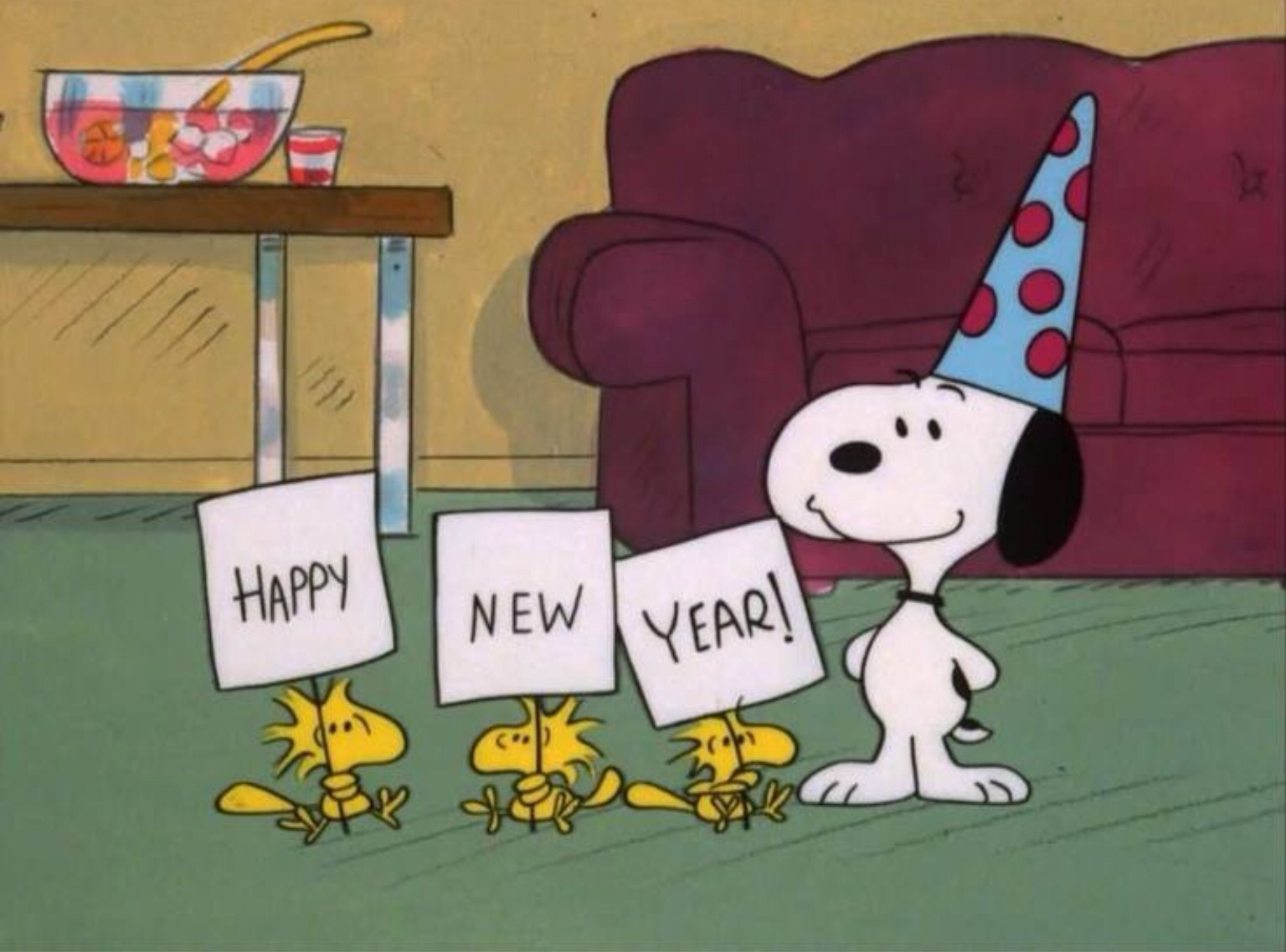 Snoopy Woodstock Happy New Year Always About the Peanuts Pinte 1536x1138