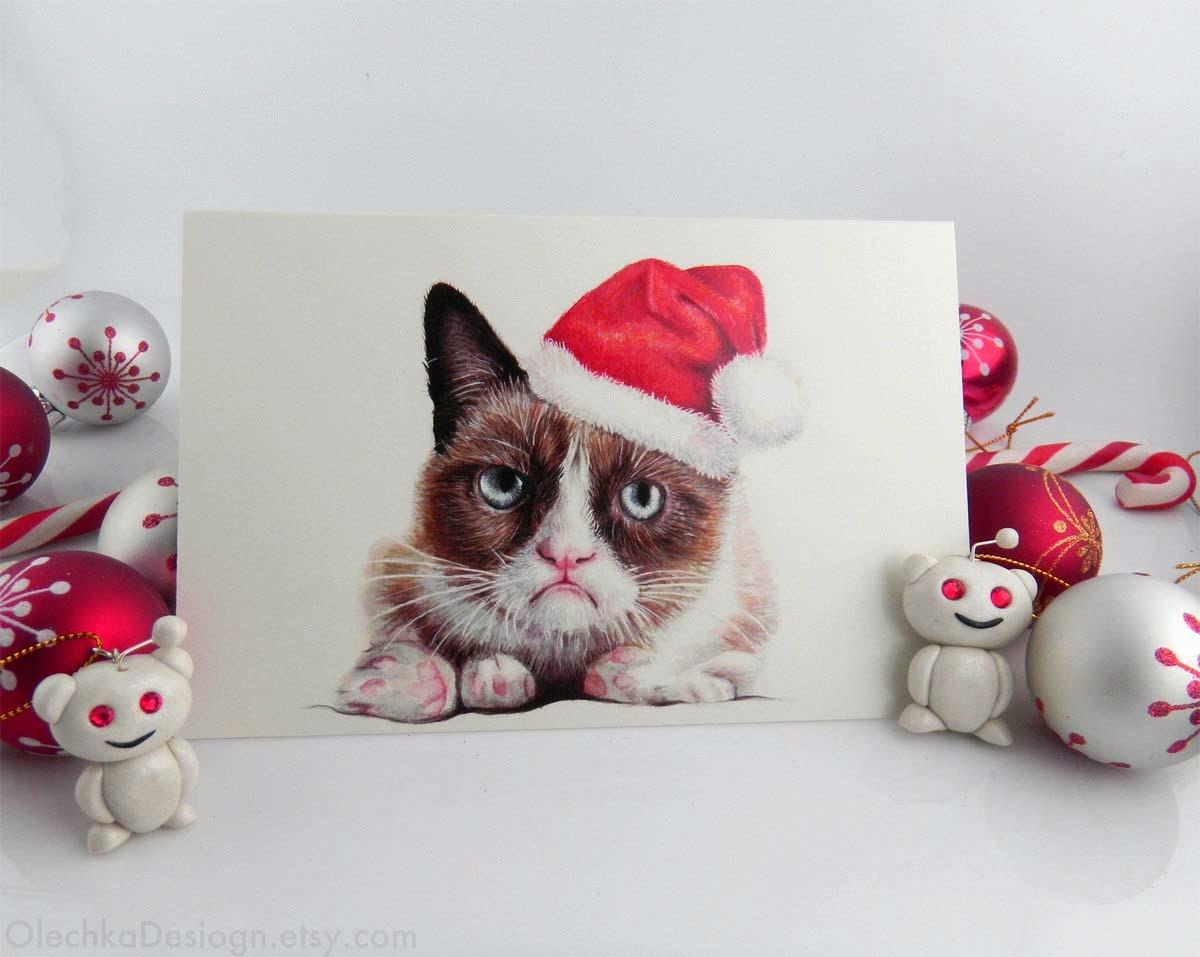 grumpy cat christmas Wallpaper 1200x957