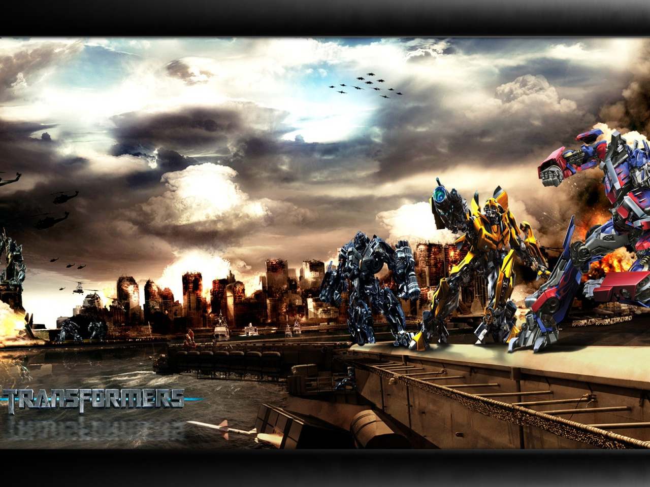 Autobot vs Decepticons movie wallpaper 1280x960 Movie Wallpapers 1280x960
