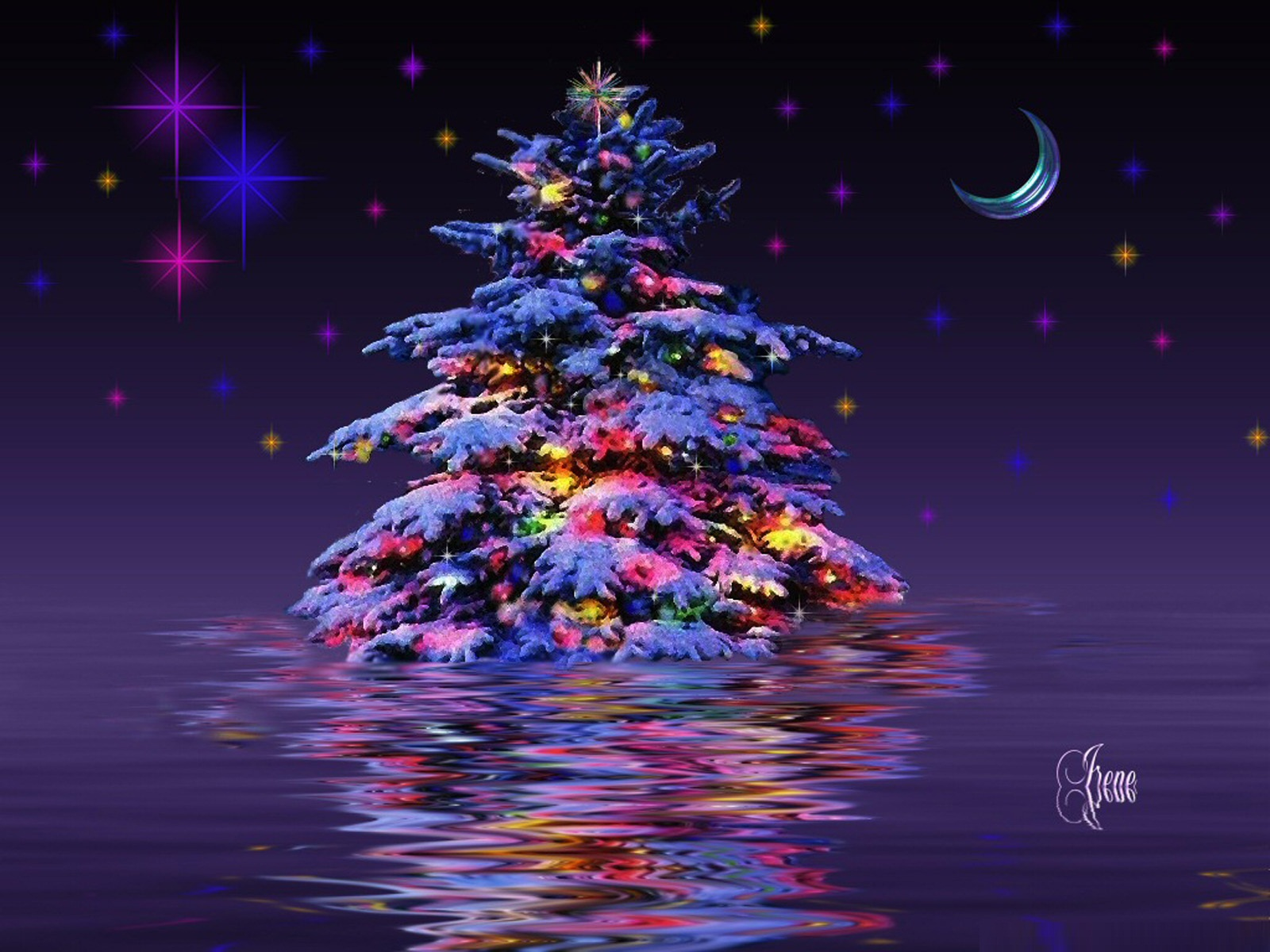 3d Christmas Tree Wallpapers 3d Christmas Tree Backgrounds 1600x1200