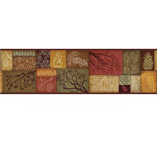Adirondack Pine Bath Collection Wallpaper Border 520x480