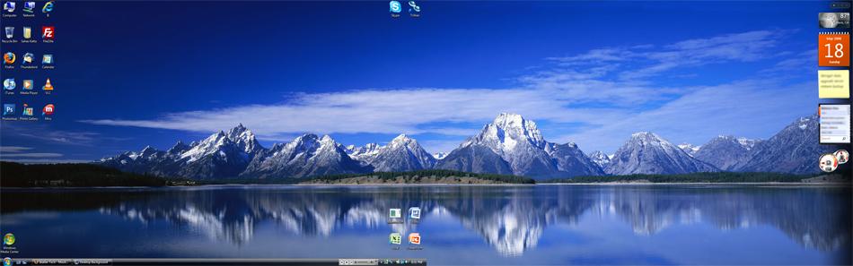 Dual Screen Wallpaper In Vista 950x297