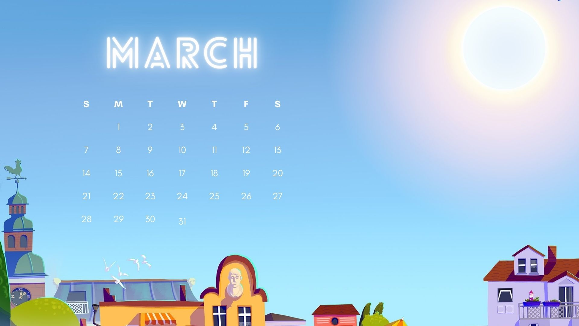 download March 2021 calendar wallpaper Calendar wallpaper
