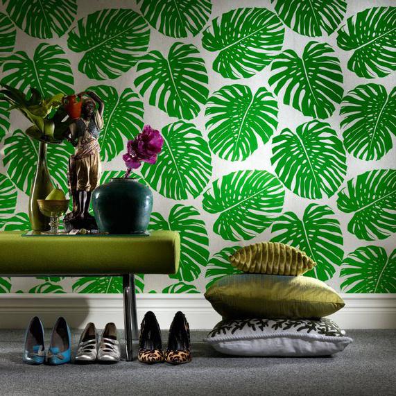 Aliexpresscom Buy shipping FRESH green banana leaf wallpaper 571x571