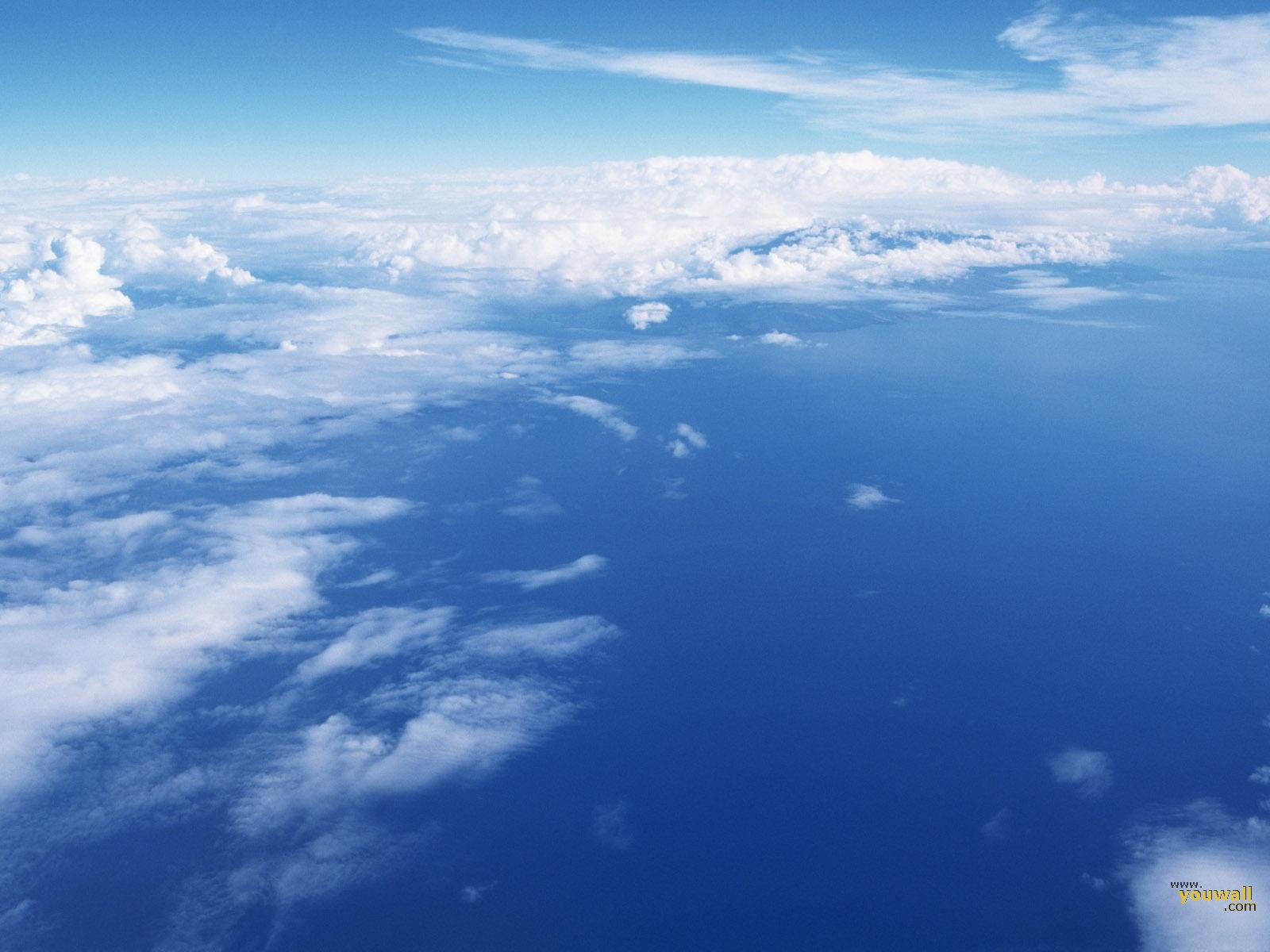 SUN SHINES blue sky wallpaper 1600x1200