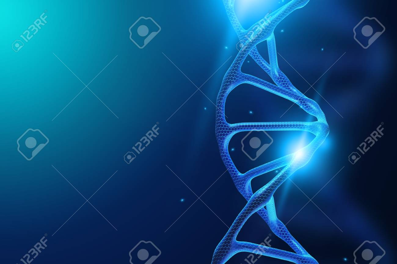 Creative Background Dna Structure DNA Molecule On A Blue 1300x866