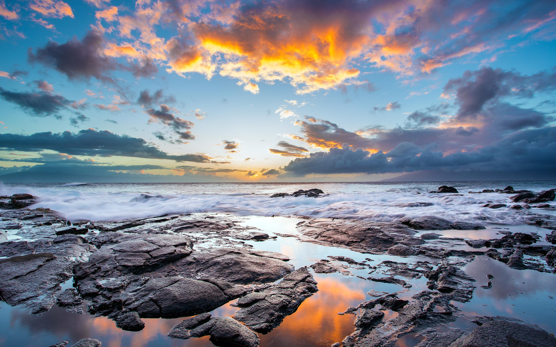 Sunset Maui Hawaiian Island Wallpapers HD Wallpapers 2880x1800